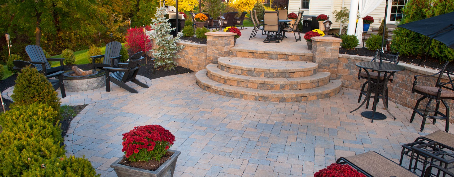 Landscape incorporated hardscape design services for Landscape design services